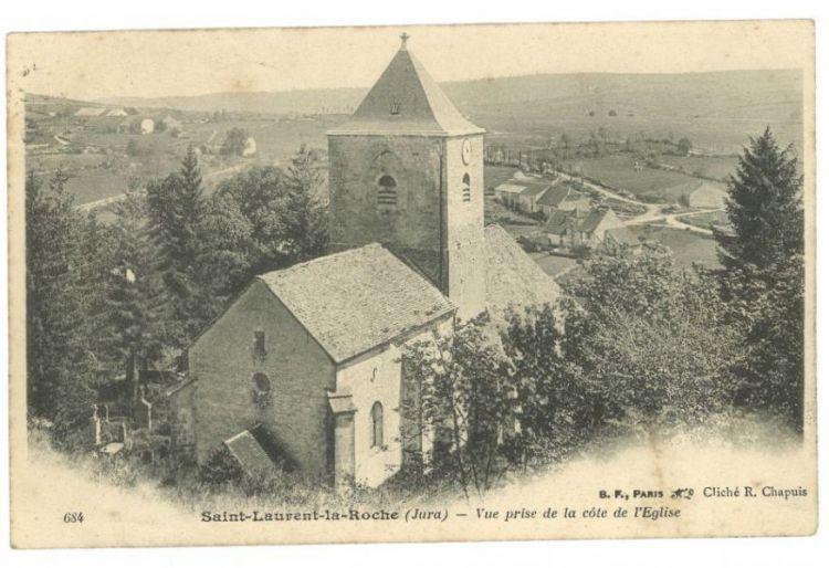 carte postale ancienne église de saint laurent 2