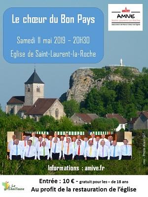 affiche du concert du Choeur du Bon Pays du  11 mai 2019