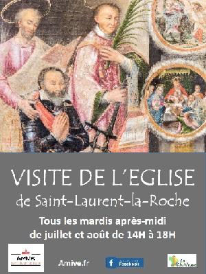 affiche visite eglise saint laurent la roche