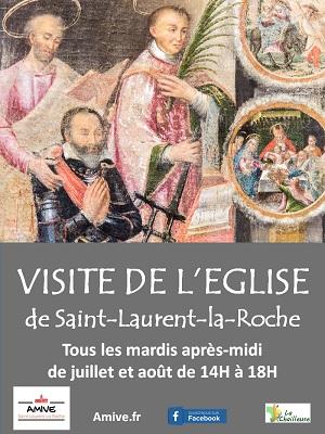 Affiche visite de l'église de Saint-Laurent-la-Roche