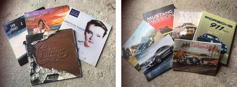 Des vinyls et des livres automobiles à vendre à la brocante au profit de l'église de St Laurent-la-Roche