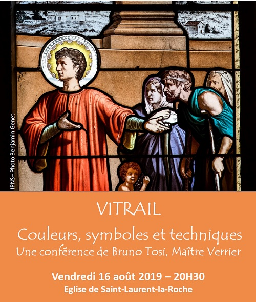 affiche conférence vitrail Bruno Tosi