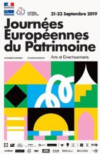 affiche journées européennes du Patrimoine 2019 @playground