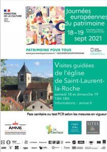 Journées du Patrimoine Saint Laurent la Roche, Jura